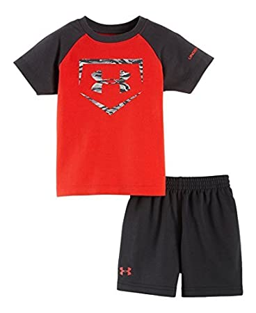 ab846c6d4f Amazon.com : Under Armour Baby Boys' Homebase Set, Risk Red, 18 ...
