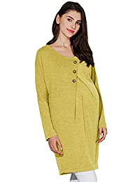 Sweet Mommy Maternity and Nursing Front button Dolman knit Tunic