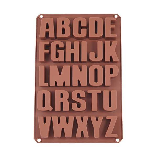 Stampi per dolci, biscotti, 26 lettere dell'alfabeto, estremamente stabili, formine in silicone, per cioccolatini 34 x… 1 spesavip