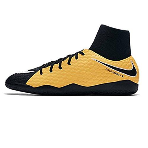 NIKE Kids Hypervenomx Phelon III Dynamic Fit IC Soccer Shoe (Little Kid/Big Kid) (5.5 Big Kid, Laser - Nike Indoor Girls Shoes Soccer