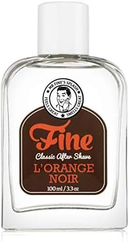 Mr Fine L'Orange Noir Mens Aftershave -A Splash Of Classic Barbershop Aftershave for Modern Men - The Wet Shaver's Favorite