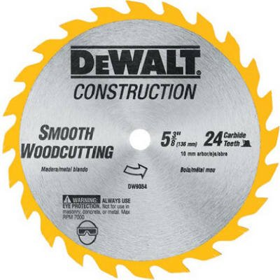 028874090545 - DEWALT DW9054 5-3/8-Inch 24 Tooth ATB General Purpose Saw Blade carousel main 1
