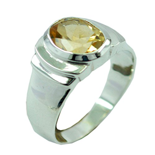 55Carat Natural Birthstone Citrine 925 Silver Ring Handmade Oval Cut Bezel Style Size 5,6,7,8,9,10,11,12