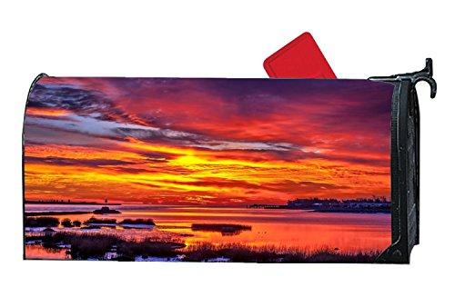 BYUII Sunset Marsh Decorative Garden Mailbox Cover Magnetic Standard -
