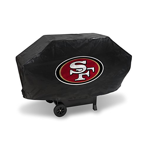49ers Fan Francisco San Nfl (Rico Industries NFL San Francisco 49ers Vinyl Padded Deluxe Grill Cover)