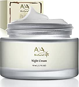 Aya Natural Facial Vegan Night Cream Advanced Safe Moisturizer, All Natural, Anti Aging Nighttime Skin Rejuvenation Formula For Face & Neck