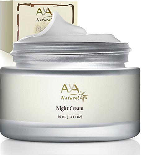 Aya Natural Facial Vegan Night Cream Advanced Safe Moisturizer, All Natural, Anti Aging Nighttime Skin Rejuvenation Formula For Face & Neck