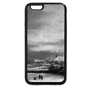 iPhone 6S Plus Case, iPhone 6 Plus Case (Black & White) - Jacob Issaksz van Ruisdael - Winter Landscape