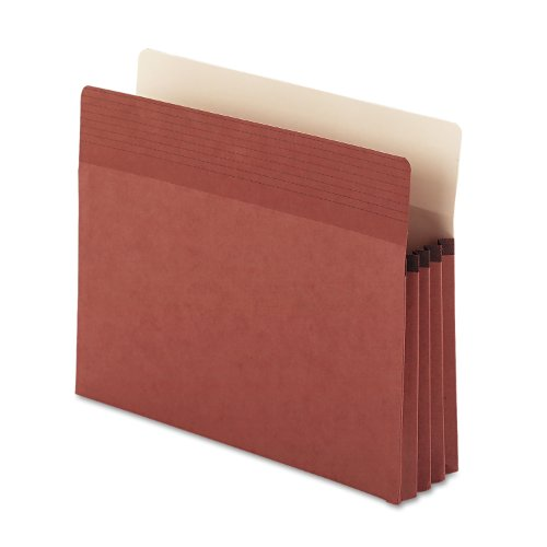 "Smead Easy Grip® File Pocket, Straight-Cut Tab, 5-1/4"" Expansion, Letter Size, Redrope, 10 per Box (73209)"
