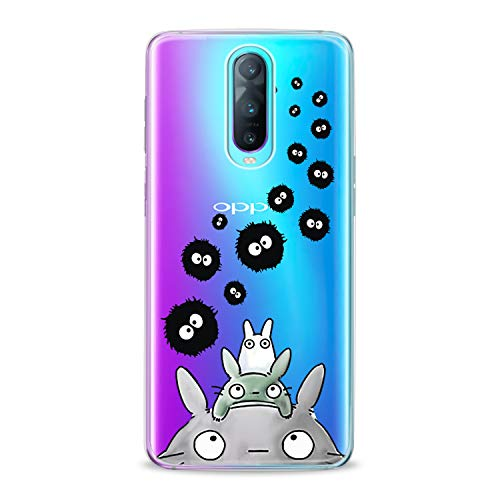 Lex Altern TPU Case for Oppo R17 F11 Realme 2 Pro 1 R15 F7 F9 K1 A7x New Clear Animal Bunny Cute Cover Painted Print Creative Child Spirited Away Protective 2018 Flexible Girl Silicone Anime Present -