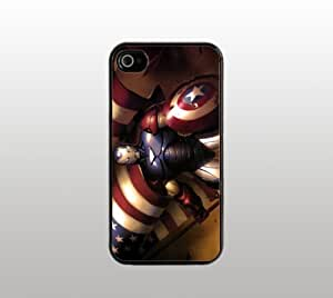 Captain America Hard Snap-On Case for iPhone 5 - Black - Custom Cover - Superhero Comic