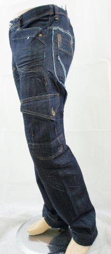Raw ClothingHerren Jeanshose, Einfarbig Blau Indigo Blue