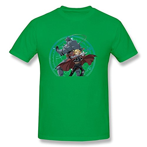kaitian-fullmetal-alchemist-mens-t-shirtsforestgreen-o-neck-size-m