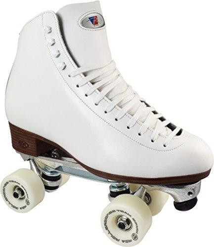 White Riedell 120 Juice Plus Indoor Roller Skates