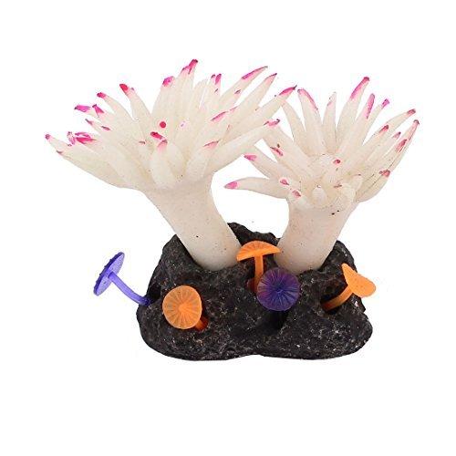 Amazon.com : eDealMax de silicona de acuario Decoración anémonas Plantas acuáticas 2, 5 pulgadas de alta Blanca : Pet Supplies