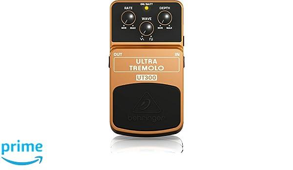 Behringer UT300 - Pedal de efecto vibrato para guitarra, color naranja: Amazon.es: Instrumentos musicales