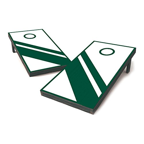 Vinyl Revolution Michigan State Two Tone College Football Cornhole Sticker Covers/Cornhole Board Decals/Cornhole Board Stickers/Bag Toss Stickers/Dummy Board Decals (ForestGrenn & White - Classic)