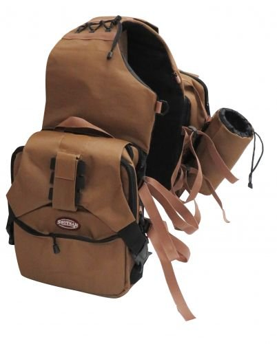 Showman Extreme Trail Blazer Nylon Saddle Bag (Brown) by Showman