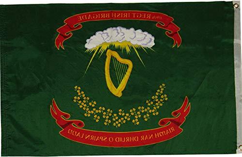 Mikash 2x3 69th Irish Reg Brigade 100D Woven Poly Nylon Flag 2x3 Banner Grommets | Model FLG - 3477 -