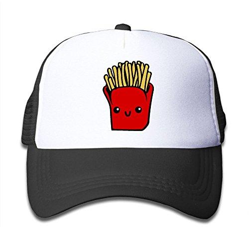 (French Fries Clipart On Children's Trucker Hat, Youth Toddler Mesh Hats Baseball Cap)