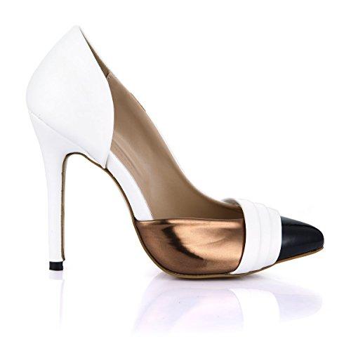 Dolphinbanana Extreem High Fashion Vrouwen Vlas Kantoor Dagelijks Dragen Comfortabele Hakken Wit