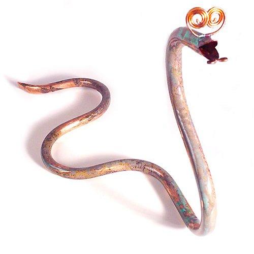 "Whimsical ""Copperhead"" Garden Snake Sculpture"