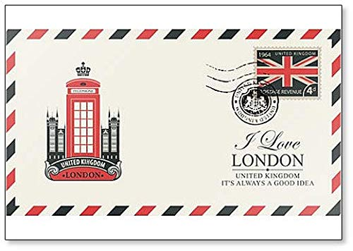 Foto Booth - Design Postcard with Famous London Telephone
