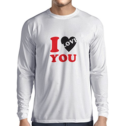 lepni.me Long Sleeve t Shirt Men I Love You! - Sexy ST Valentines Gifts (Medium White - Shopping Beirut Online