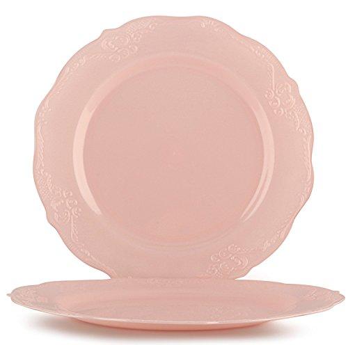 Vintage Disposable Round Plastic Plates - 7.5