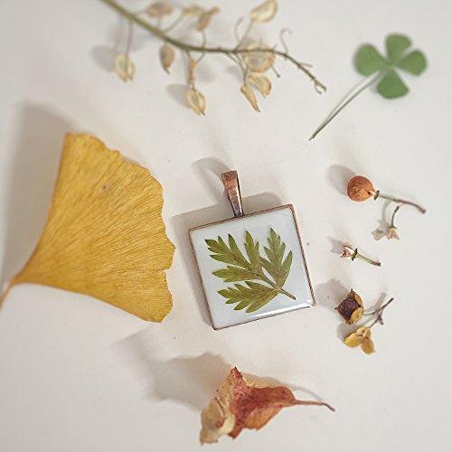 pressed leaf necklace - 7