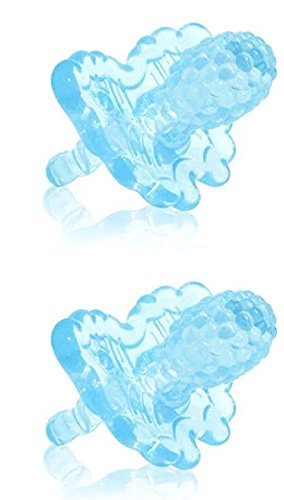 Razbaby Razberry Teether - Razbaby Razberry Silicon Teether, Light Blue(2 Pack