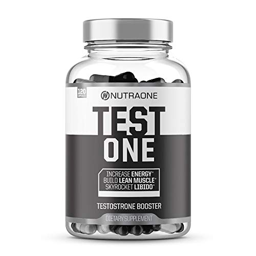 Testone Testosterone Booster for Men by NutraOne - Natural Endurance, Stamina and Strength Booster (120 Capsules)