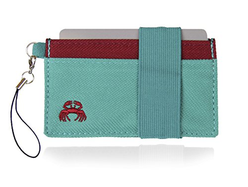 Crabby Wallet - Thin Minimalist Front Pocket Wallet - C3 Canvas Wallet (Best Advertising Jingles Of All Time)
