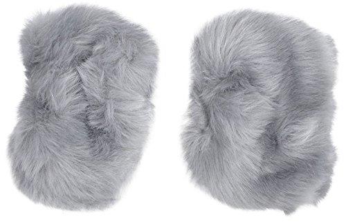 Simplicity Girls Faux Fur Costume Short Wrist Band Ring Cuff Warmer, Grey -