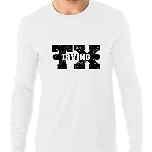 Irving, Texas TX Classic City State Sign Men's Long Sleeve T-Shirt]()