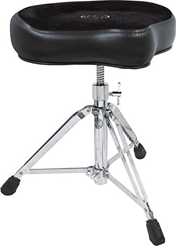 Roc-N-Soc Manual Spindle Drum Throne - Original Saddle, Black