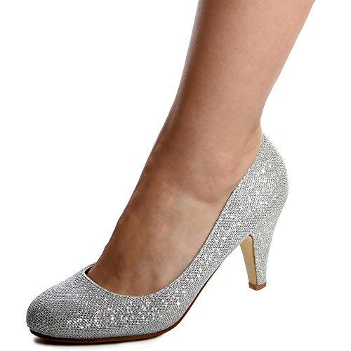 topschuhe24 - Zapatos de vestir de otros para mujer Plateado - plateado