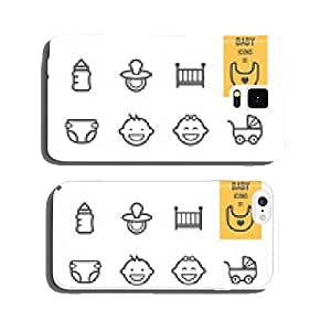 Baby icons set. Vector illustration. cell phone cover case iPhone6 Plus