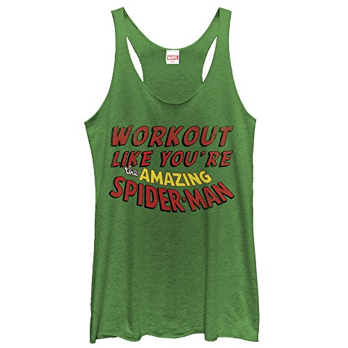 spider-man+tank+tops Products : Marvel Work Out Like Spider-Man Womens Graphic Racerback Tank