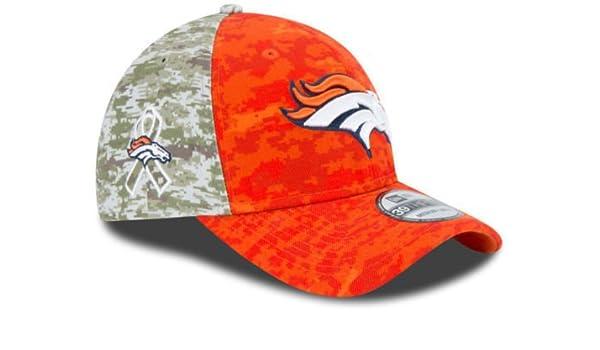 1a94ca419fd Amazon.com   Denver Broncos 2015 NFL Salute to Service New Era 39thirty  Flex Cap Hat Size L XL   Sports   Outdoors
