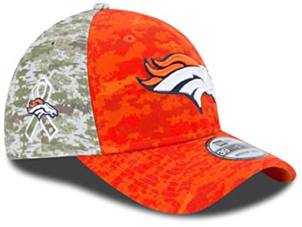 0bed6fbe0cb Image Unavailable. Image not available for. Color  Denver Broncos 2015 NFL  Salute to Service New Era 39thirty Flex Cap Hat Size L