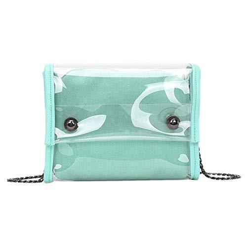 Clair Main Messenger À Bonbons Taille Chaîne Femmes Couleur en coloré PVC Sac Épaule Vert Composite Vert Sac Ixnw10qH1