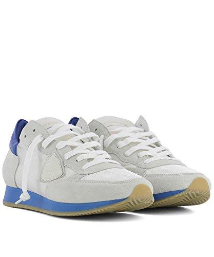 Philippe Model Herren TRLUNS05 Weiss Stoff Sneakers