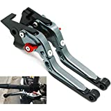 POISON SCORPION Brake Clutch Levers CNC Adjustable Compatible with MT-09 Tracer 2015-2020 MT-09 Tracer GT 2018-2020 Black