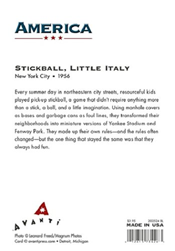 Avanti Historic America Blank Notecards, Stick Baseball in New York's Little Italy, 10-Count