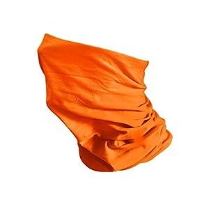 Écharpe Tour De Cou Moto Vélo UltraLéger Chaud cagoule masque (Orange)
