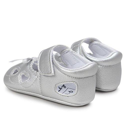Igemy 1Paar Baby Mädchen Höhle aus Sandalen Schuh Casual Schuhe Sneaker Anti-Rutsch Soft Sole Kleinkind Silber