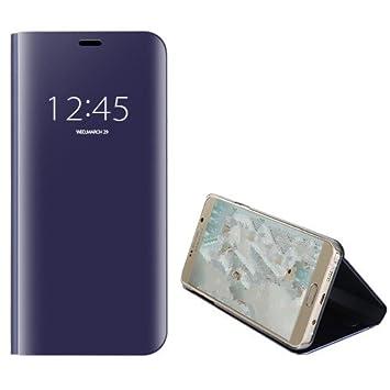 Funda® Espejo Enchapado Flip Samsung Galaxy A6 Plus 2018 (Púrpura)