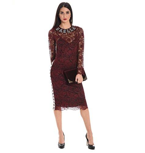Kleid Bordeauxrot GAELLE PARIS GBD1783BORDEAUX Damen Polyester wTTZnXrvq