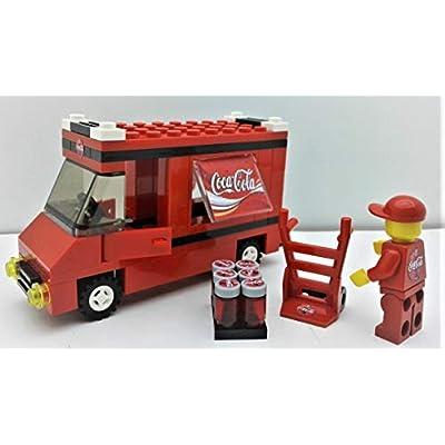 Building Bricks Toys Custom. City Vehicle COCA COLA Set. / Truck case Minifigure Hand Truck: Toys & Games